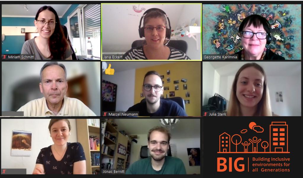 Screenshot des zweiten BIG-Workshops in Deutschland