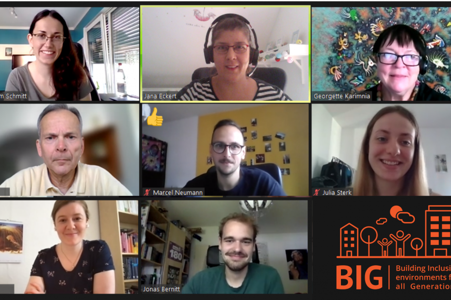 Screenshot of the second BIG workshop in Germany